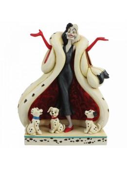 The Cute and the Cruel (Cruella and Puppies Figurine)