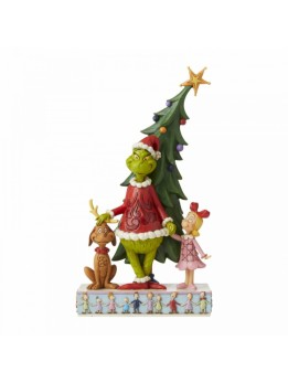 Grinch, Max and Cindy Decorating Tree Figurine