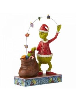 Grinch Juggling Ornaments Figurine