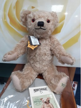 MERRYTHOUGHT BEAR, ROYAL MAIL STAMP REPLICA