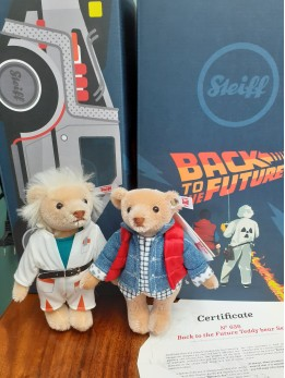 Steiff Back To The Future Doc Brown & Marty Mcfly