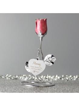 Rose Bud Ornament Personalised