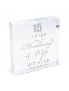 Anniversary Crystal Paperweight