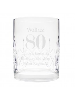Crystal Whisky Glass Personalised