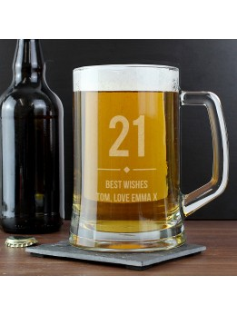 Pint Stein Glass Personalised