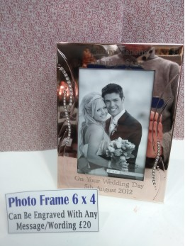 Engraved 6 by 4 Photo Frame