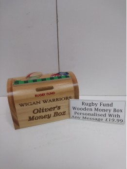 Wooden Money Rugby Football Theme