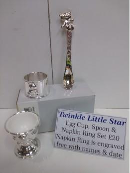 Napkin, Spoon & Egg Cup Set