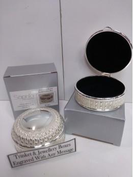 Engraved Round Trinket Box