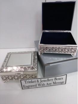 Engraved Square Trinket Box