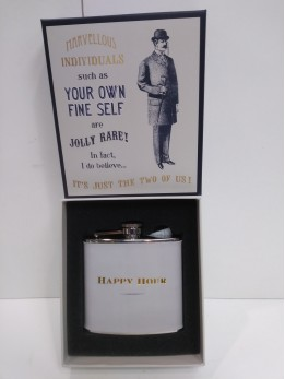 Happy Hour Hip Flask Personalised