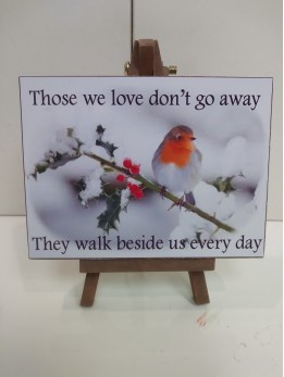 "Robin Plaque ""Those we love..."""
