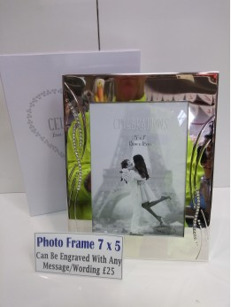 Engraved 7 by 5 Photo Frame