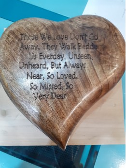 Wood Heart Keepsake Box Hinged