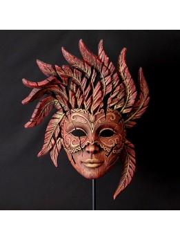 Edge Venetian Carnival Mask Red